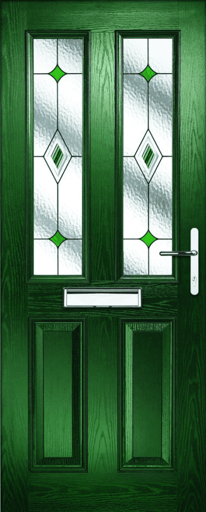 Green Home Wooden Door