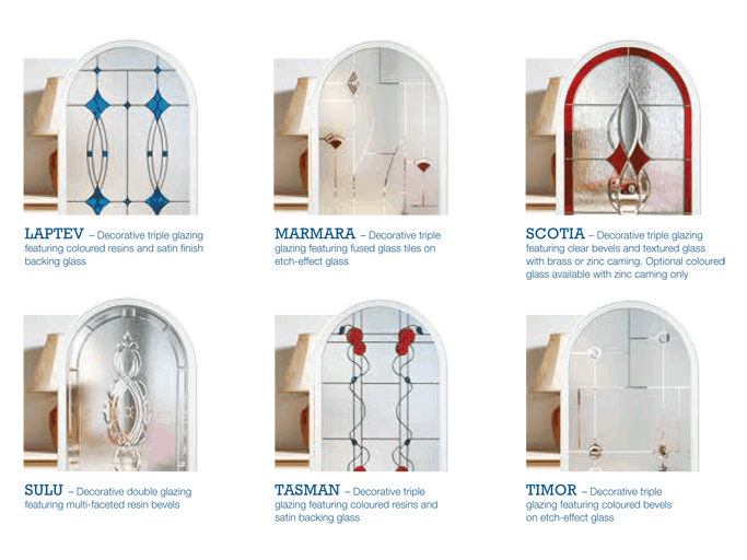 Glazing options composite doors
